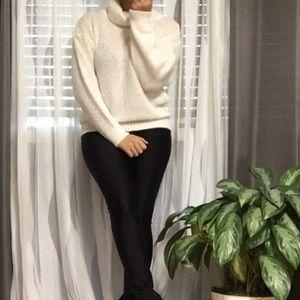 DIANE VON FURSTENBERG • Oversize Knit Cowl Sweater